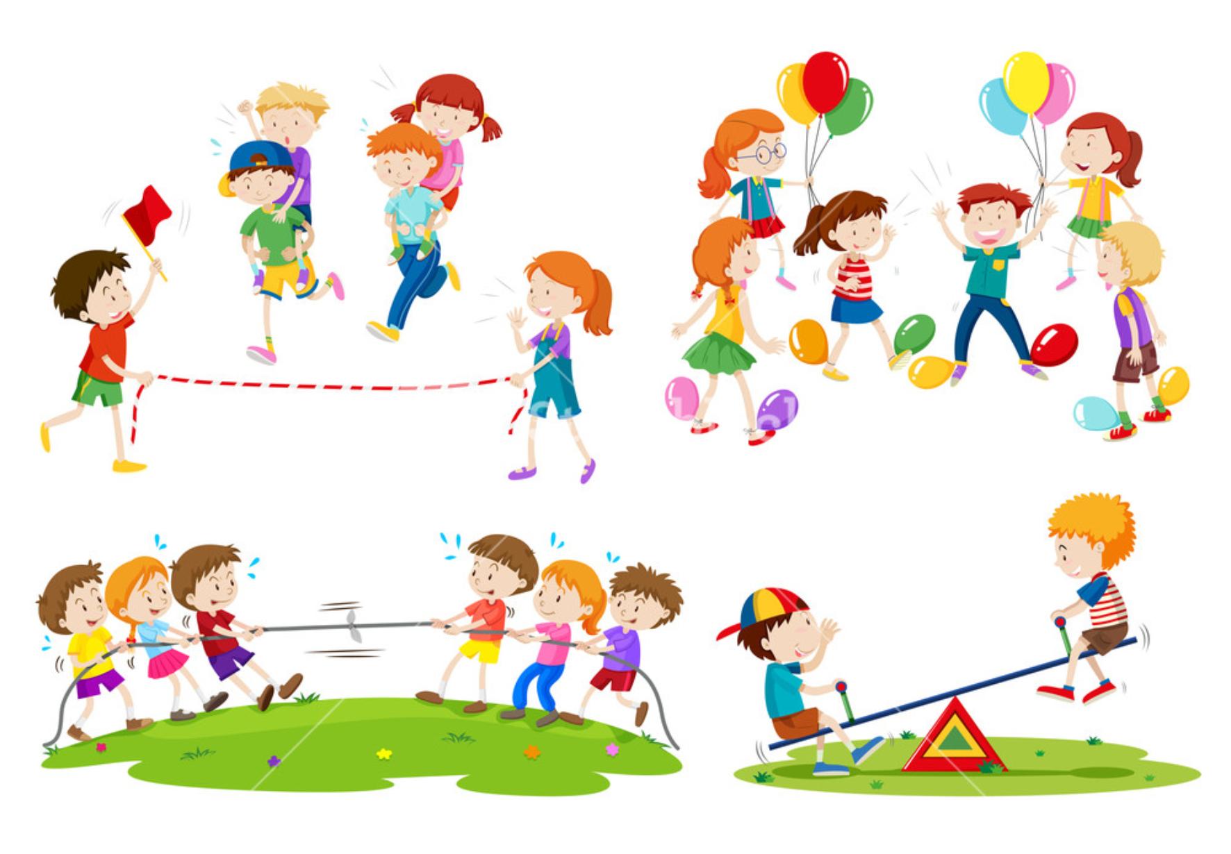 Kids Playing Old